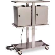Lakeside Stainless Steel Food Carrier Box Storage Rack W/ Built-In Lug Strip - 696
