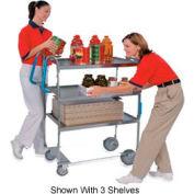 Lakeside® 7010 HD Ergo-One Stainless 2 Shelf Cart 35 x 18 x 46 700 Lb Cap