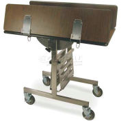 "Geneva Tri-Fold Leaf Room Service Cart, Square, 36""W x 31""H x 40""L - 74410"