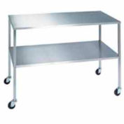 """Lakeside® 8399 Stainless Steel Instrument Table with Shelf  - 72""""L x 24""""W x 34""""H"""