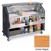 "Geneva Lakeside 64""  Beverage Bar w/ TWO Insulated Ice Bin, 886-AmberMaple"