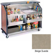"Geneva Lakeside 64"" Portable Beverage Bar, Insulated Ice Bin, 887-BeigeSuede"