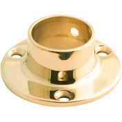 "Lavi Industries, Flange, Wall, for 1"" Tubing, Polished Brass"