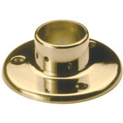 "Lavi Industries, Flange, Floor, for 1.5"" Tubing, Polished Brass"