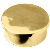"Lavi Industries, End Cap, Flush, for 1.5"" Tubing, Polished Brass"
