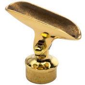 """Lavi Industries, Adjustable Saddle, for 1.5"""" Tubing, Polished Brass"""