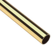 "Lavi Industries, Tube, 1.5"" x .050"" x 4', Polished Brass"