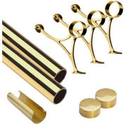 "Lavi Industries, 8' Foot Rail Kit, 2"" Tube, Polished Brass"