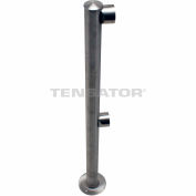 Tensabarrier Polished Chrome Dual Line Adapta-Rail End Post