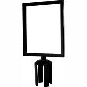 "Tensabarrier Sign Frame Post Stanchion 8.5X11"" Black"