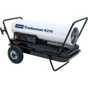 L.B. White® Portable Kerosene Heater Tradesman K210, 210K BTU, # 1 or # 2 Fuel Oil