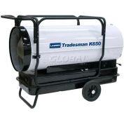 L.B. White® Portable Kerosene Heater Tradesman K650, 650K BTU, 1 ou 2 Fuel Oil