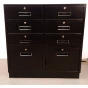 """Fenco Teller piédestal armoire 213-B - tiroirs juridique tiroirs 6 2 36"""" W x 19 H «D x 38-1/2» noir"""