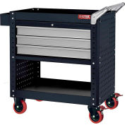 "LDS Shuter CT-H3 Steel Adjustable Shelf Utility Cart 35"" x 20"" 800 Lb Capacity"