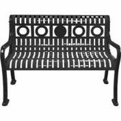 4' Ring Pattern Bench - Black