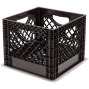 "Dairy Milk Crate, 13""L X 13""W X 11""H, Black"