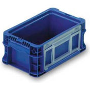 """ORBIS Stakpak NSO1207-5 Modular Straight Wall Container, 12""""L x 7-13/32""""W x 5""""H, Blue"""