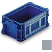 """ORBIS Stakpak NSO1207-5 Modular Straight Wall Container, 12""""L x 7-13/32""""W x 5""""H, Gray"""