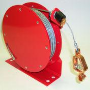 Lind Equipment ML2930-C50 HD statique Grd Reel, rembobinage automatique, 50', câble d'acier, LE - 21C Alligator Clip