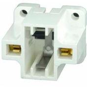 Leviton 26719-400 Compact Fluorescent Lampholder, White