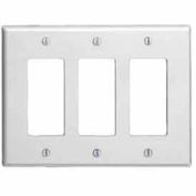 Leviton 80611 3-Gang Decora Midway Size Smooth Plastic, Brown
