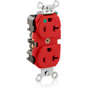 Leviton 8300-HR 20A, 125V, Duplex Receptacle, Red