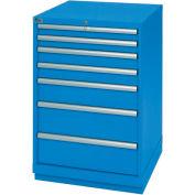 Lista® 7 Drawer Standard Width Cabinet - Blue, Individual Lock