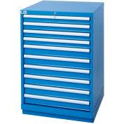 Lista® 10 Drawer Standard Width Cabinet - Bright Blue, Individual Lock
