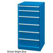 "Lista 28-1/4""W Cabinet, 6 Drawer, 37 Compart - Light Gray, No Lock"