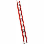 Louisville 28' Lightweight Fiberglass Extension Ladder - 300 Lb Cap - Type IA / Grade 1A - L-3025-28