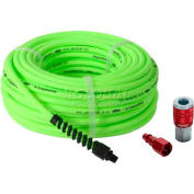 "Flexzilla® HFZP1425YW2-D 1/4""x25' 300 PSI Hybrid Polymer All Weather Air Hose W/ Coupler & Plug"