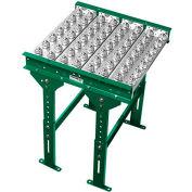"Ashland Conveyor 2' Ball Transfer Conveyor Table BTIT100203 - 10"" BF - 3"" Ball Centers"