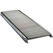 "Ashland 5' Straight Roller Conveyor - 22"" BF - 1-3/8"" Roller Diameter - 3"" Axle Centers"
