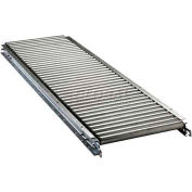 "Ashland 10' Straight Roller Conveyor - 22"" BF - 1-3/8"" Roller Diameter - 3"" Axle Centers"