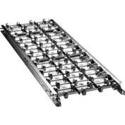 "Ashland 5' Straight Aluminum Skatewheel Conveyor 12X10X05A - 12"" OAW - 10 WPF"