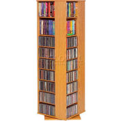 Revolving Four Sided Multimedia Tower Oak
