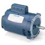 Leeson Motors Single Phase Pump Motor 1/2HP, 3450RPM, 48, DP, 115/208-230V, 60HZ, Auto, 40C, 1.6SF