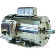 Leeson Motors Motor Washdown Motor-.5HP, 115-208/230V, 3600RPM, TEFC, RIGID C, 1.15 SF, 0 Eff.