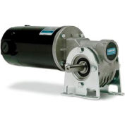 Leeson M1135285.00, 1/8 HP, 27 RPM, 12VDC, TENV, 512, 61:1 Ratio, 134 In-Lbs