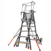 Little Giant Fiberglass Aerial Safety Cage Ladder, 5-9' Type 1AA - 18509-243