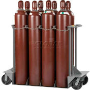 "Little Giant® Vertical, 8 Cylinder, Gas Cylinder Truck, 24""W x 60""D x 48""H"