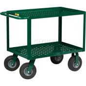 Little Giant® Nursery Service Cart LGLP-2436-9P-G - Perforated Deck 36 x 24 Deck - 1200 Lb.