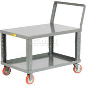 Chariot à tablettes ergonomique à hauteur réglableLittle Giant®, LK3048-5PYBKAH, 48 x 30, 1200 lb