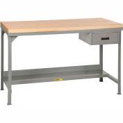 Little Giant WSJ2-3048-36-DR  Welded Maple Butcher Block Workbench, Fixed Height W/ Drawer