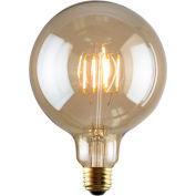 Luminance L7587 G40 Nostalgia LED Filament Bulb in Amber, E26 Base, 2W, 180 Lumens, 2200K