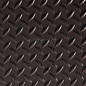 Crown #540 Workers-Delight™ Supreme Deck Plate W/ Zedlan Foam Backing 3'X12' Black