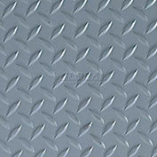 Crown #540 Workers-Delight™ Supreme Deck Plate W/ Zedlan Foam Backing 3'X12' Gray