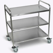 "Luxor® ST-3 37""H Stainless Steel Transport Cart"