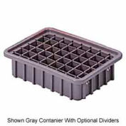 "LEWISBins Divider Box NDC2035 16-1/2"" x 10-7/8"" x 3-1/2"", Gray - Pkg Qty 8"