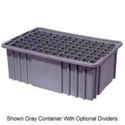 "LEWISBins Divider Box NDC2060 16-1/2"" x 10-7/8"" x 6"", Red - Pkg Qty 8"